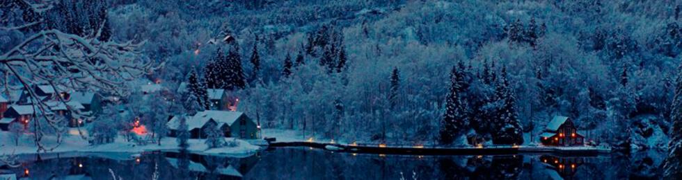 Норвегия зимой