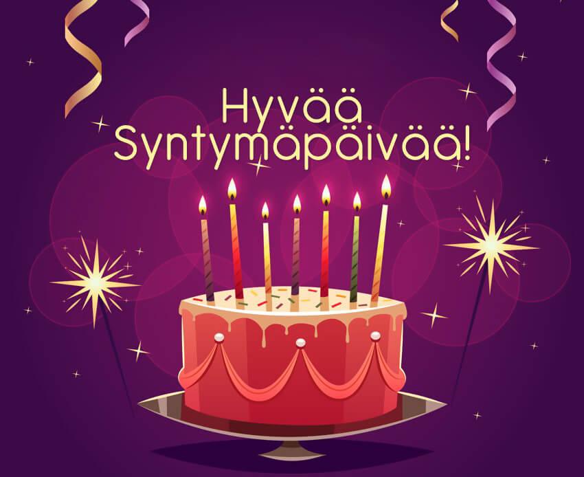 """Картинки по запросу """"картинка с днем рождения на финском языке"""""""