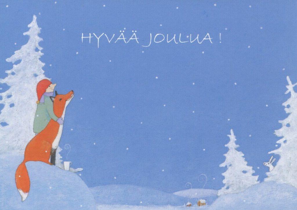 Рождественская картинка на финском языке